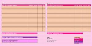 Einfache Buchhaltung im Excel